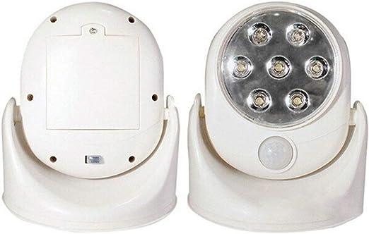 xiegons0 Sensor de Movimiento Noche Luz, 360°Giratorio Funciona ...