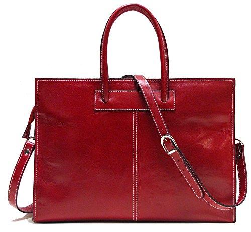 Floto Monteverde Bag - Women's briefcase in Red Italian Calfskin Leather