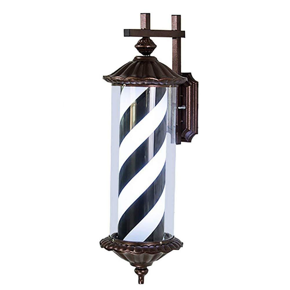 Barbershop Pole rot weiß blau Beleuchtung und rotierenden Streifen mit LED-Lampe 73 cm(schwarz)