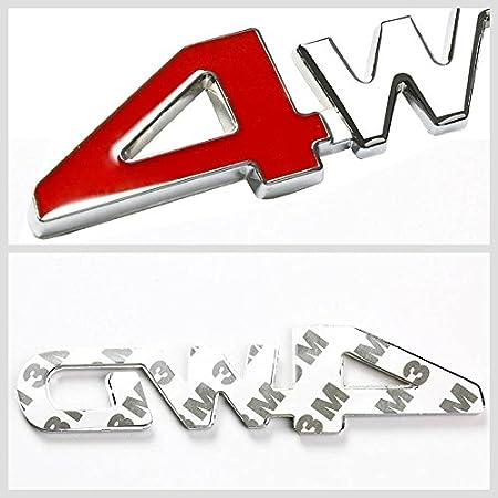 Aluminum 1.8T Chrome//Red Car Trunk Rear Fender Bumper Emblem Badge Decal Sticker