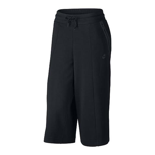 a6f14b639f78 Nike Sportswear Tech Fleece Womens Capri   3 4 Pants Black at Amazon ...
