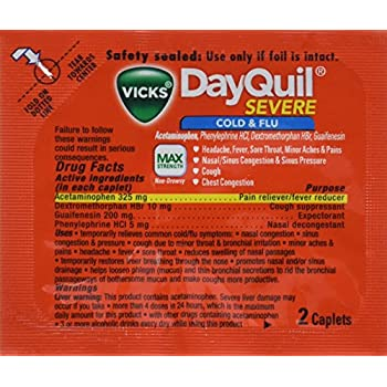 Vicks DayQuil Cold Amp Flu Box Of 25 Packets