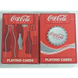 Lot 2 Bicycle Coca-Cola Bottle Cap and Silhouette Coke Playing Cards