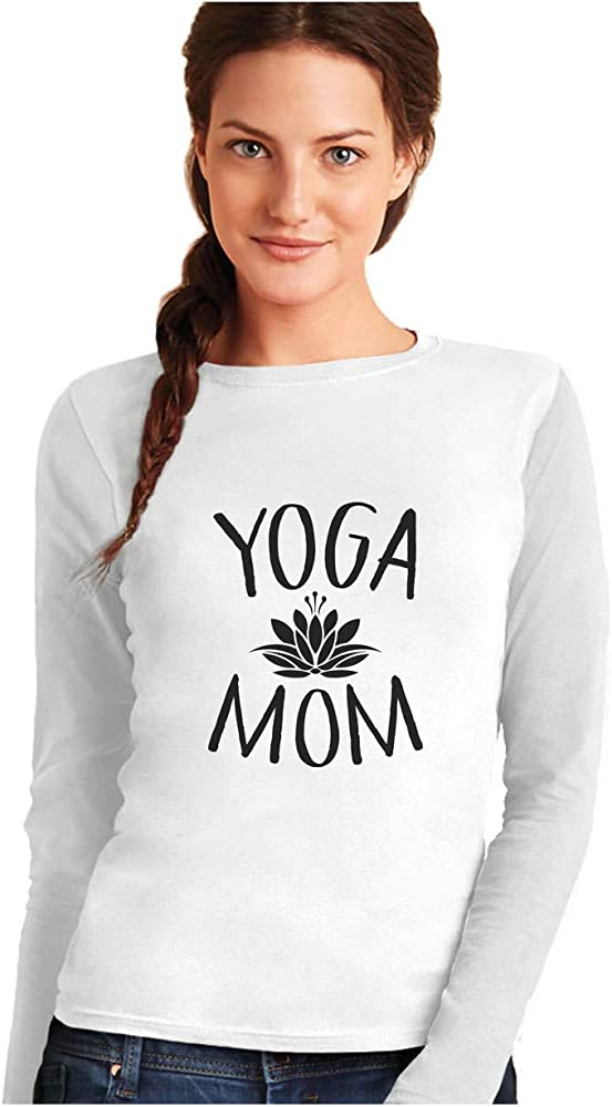 Camiseta de Manga Larga para Mujer - Yoga Mom - Idea Regalo ...