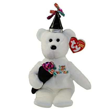 Amazon.com  TY Beanie Baby - NEW YEAR the New Years Bear  Toys   Games 8ee311a5439