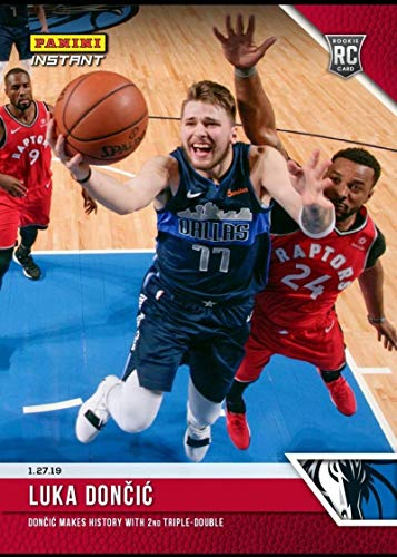 - 2018-19 Panini Instant NBA #92 Luka Doncic RC Rookie Card Dallas Mavericks Print Run 902 Makes History with 2nd Triple-Double January 27 2019