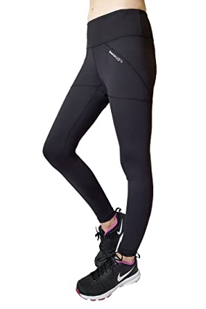 f4d13a90c639ed DEUCE SPORTS Jazz Womens Workout Leggings | Black Mesh Slimming Leggings |  Skin Tight Fabric with