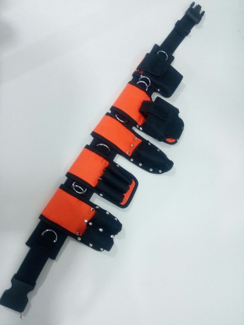 Scaffolding Visible Naylon Padded Tools Belt - Super 8 IN 1 ToolSet Edition With Safety Lanyards