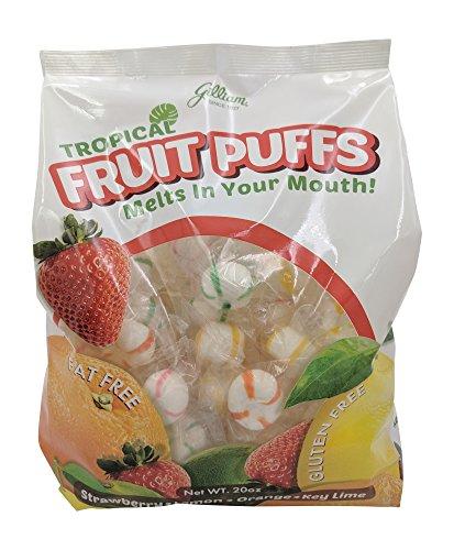 - Gilliam Tropical Fruit Soft Puffs Fat Free, Gluten Free,Strawberry,Lemon,Orange,Key Lime