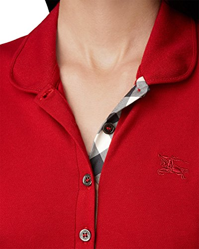 BURBERRY BRIT - Polo da Donna YSM70254 - Rosso (Military Red), XS