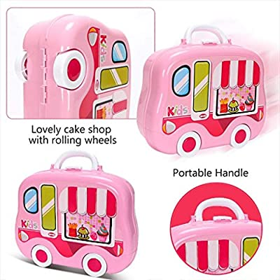 Life-Tandy Kitchen Play Set and Foods for Kids and Toddlers Pretend Pots, Pans and Dishes with Little Foods Utensils and More Perfect for Pretend Play Boys and Girls (Pink): Toys & Games