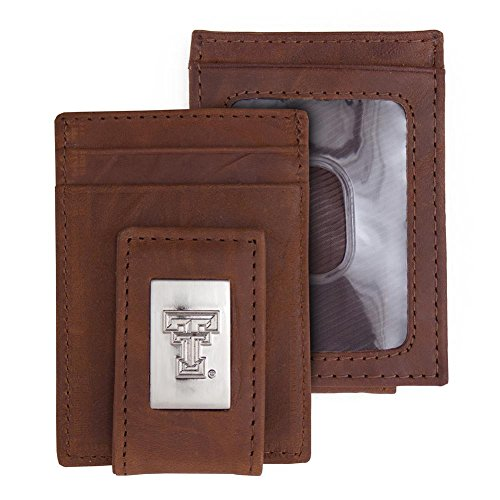 (Eagles Wings Texas Tech University Wallet Front Pocket Leather Wallet)