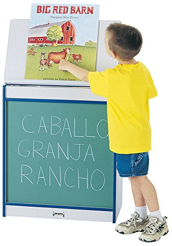 Rainbow Accents 0542JCWW003 Big Book Easel, Chalkboard, Blue