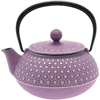 Iwachu Japanese Iron Tetsubin Teapot, Honeycomb, Silver and Lavender