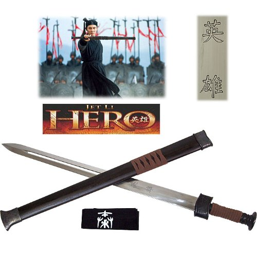 Whetstone Cutlery Hero Movie Sword of The Nameless Warrior with Scabbard (Shaped Jet Stone)