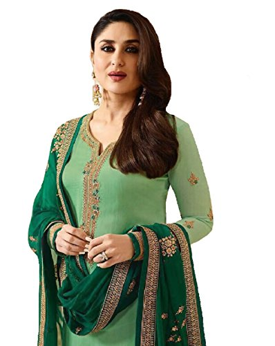 - Delisa Ready Made New Designer Indian/Pakistani Fashion Dresses for Women (Light Green, X'LARGE-44)