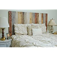 Rustic Mix Design - King Hanger Headboard with Vertical Boards.