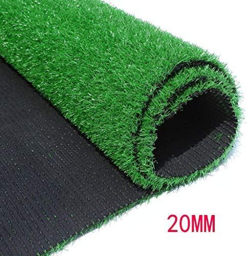 XEWNEG フェージングのない排水穴付きの暗号化された屋外人工芝、20MMの偽の芝生カーペット幅2mの庭/バルコニーの装飾 (Size : 2x9M)