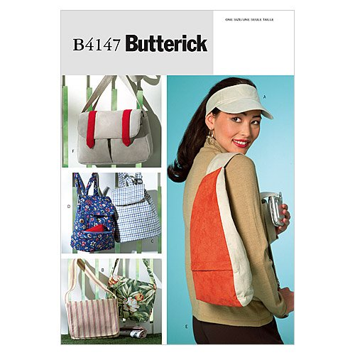 Butterick Patterns B4147 Visor and Utility Bags, One Size Only
