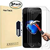 "[3 Pack] iPhone 8 Plus 7 Plus Screen Protector, MaxTeck 0.26mm 9H Tempered Glass Screen Protector Anti-Shatter Film for iPhone 8 Plus / 7 Plus 5.5"" inch - [3D Touch Compatible]"