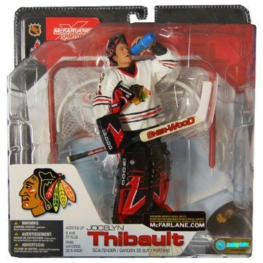 McFarlane Toys NHL Sports Picks Series 4 Action Figure: Jocelyn Thibault (Chicago Blackhawks) Red Jersey VARIANT (Mcfarlane Toys Hockey)
