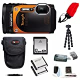 Olympus TG-860 Tough Waterproof Digital Camera with 3-Inch LCD (Orange) and 32GB Deluxe Accessory Kit
