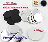 100sets Freezer Sticker1-1/4'' 32mm Rubber Magnetic Badge Button Make Hot Sale!!!