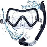 Scuba Diving Mask Set DIVE IT with Dry Snorkel Anti-fogging Protection and Dual Strap System