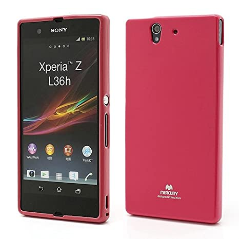Carcasa Mercury® para Sony Xperia Z L36h, color rojo: Amazon ...