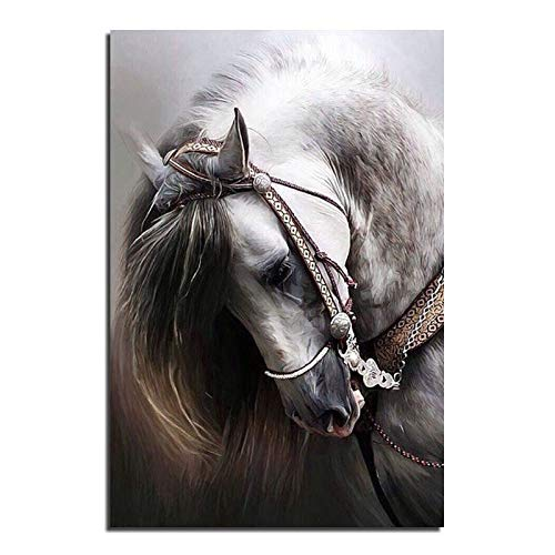 Horse Spur - Horse Cross Stitch Printed Kits Draw A Diamond Picture Rhinestones Round Embroidery - Stitch Embroidery Diamond Picture Cross Kits