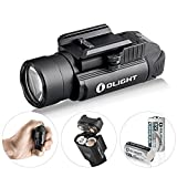 OLIGHT Bundle PL-2,PL2, pl ii Valkyrie 1200 Lumen Rail Mounted Compact Pistol Light with 2 x cr123a Batteries weaponlight Flashlight Patch