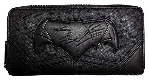 Loungefly Batman Zip Around Wallet, Black, One Size (Batman Womens Wallet)