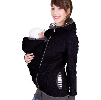 Baby Carrier Hoodie Canguro Chaqueta De Abrigo para Mamá Bebe Invierno Salir Vistiendo,L