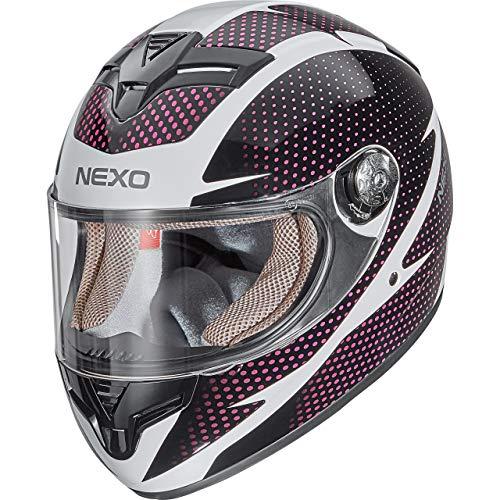 Nexo Integralhelm Motorradhelm Helm Motorrad Mopedhelm City Damen, herausnehmbare Lady Fit Komfortpolster…
