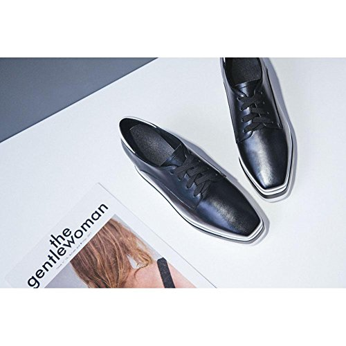Diseño con A3211 Mujeres KJJDE Sujeción Color Sólido Plataforma Zapatos Plataforma WSXY negro De de HXqq5Yw