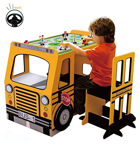 Teamson Kids School Bus Play Table And Chair Set Buy