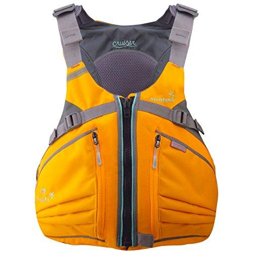 Stohlquist Women's Cruiser Life Jacket/Personal Floatation Device (Mango/Gray, X-Small/Small)