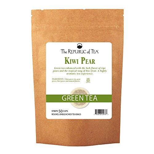 The Republic Of Tea Kiwi Pear Green Tea, 50 Tea Bags, Gourmet Green Tea Smooth Healthy (Gourmet Pear)