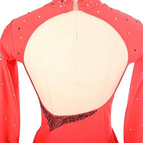 Femme Artistique Longues Tenue De Fille Utilisation Sport Elastique Patinage Sky Blue Robe Respirable Xinyuanjiafang Détente De Manches qgIzxwtOO