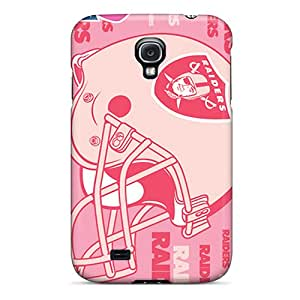 Best Hard Phone Case For Samsung Galaxy S4 (jKq20336cksB) Unique Design Trendy Oakland Raiders Series