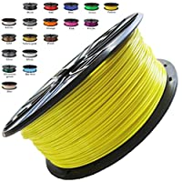 Melca 1.75 3D Printer Filament PLA 1kg +/- 0.03mm, Yellow (#F8F32B) by Melca