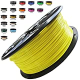 Melca 1.75 3D Printer Filament PLA 1kg +/- 0.03mm, Yellow (#F8F32B)