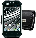 Original MTT Quertasche für / Caterpillar CAT B15 - CAT CATB15-SI - CAT B15Q / Horizontal Tasche Ledertasche Handytasche Etui mit Clip und Sicherheitsschlaufe*