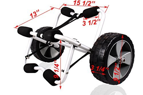 (TMS CART-CANOE/KAYAK-KY001((B)) Deluxe Boat Kayak Canoe Carrier Dolly Trailer Tote Trolley Transport Cart)