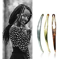 3Pcs Dreadlocks Tools, Interlocking Tools for Locs, Sisterlock and Dreadlocks Starter Tightening Accessories for Dreads. Easy Locking Needle Hair loc Maintenance Tool Kit