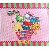 Shopkins Bath Set- Shower Curtain, Hooks, Bath and Hand Towels,Washrags, Bath Mat and Wastebasket