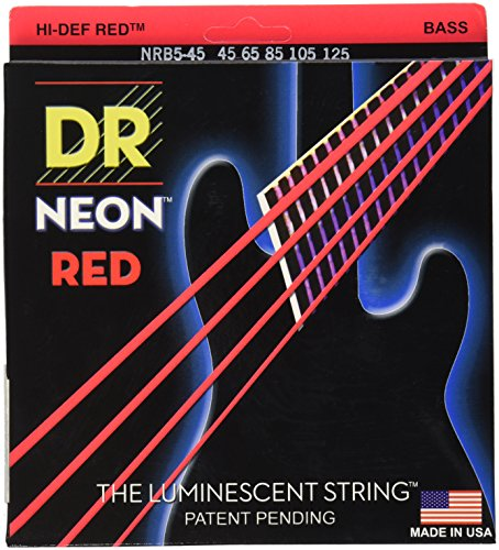 DR Handmade Strings NRB5-45 K3 Neon Hi-Def 5 Bass Guitar Str