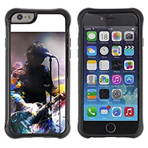 Pulsar Defender Series Tpu silicona Carcasa Funda Case para Apple iPhone 6 Plus(5.5 inches), Music Artist Signing