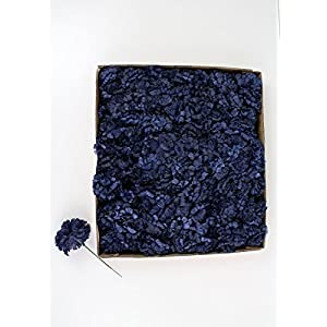 "Afloral CASE of 100 Navy Blue Carnation Bulk Silk Flower Picks - 5"" Tall 6"