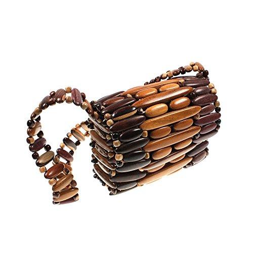 Sac à bandoulière en bois Schopper pour femme Hht6